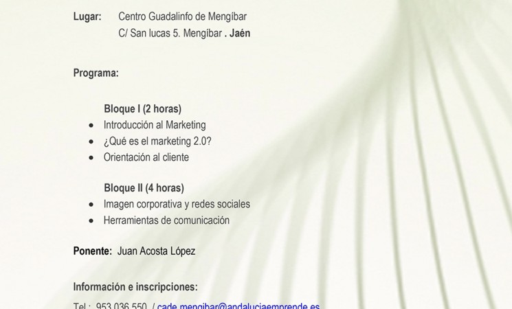 Curso de Marketing y Comunicación 2.0 en la Empresa