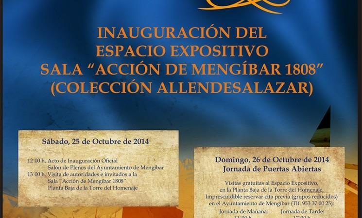"INAUGURACIÓN DEL ESPACIO EXPOSITIVO SALA ""ACCIÓN DE MENGÍBAR 1808"" (COLECCIÓN ALLENDESALAZAR)"