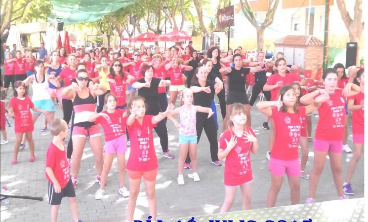Zumba. 18 de Julio en el Paseo de España