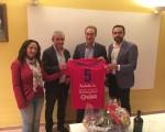 Visita de Javier Lozano, presidente de la LNFS