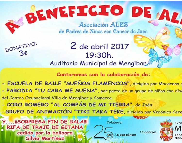Festival a beneficio de ALES, el domingo 2 de abril