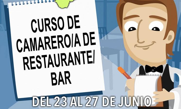 Curso de camarero de restaurante-bar para desempleados de Mengíbar