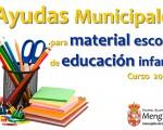 Ayudas de la Concejalía de Educación de Mengíbar para material escolar destinada al alumnado de Infantil
