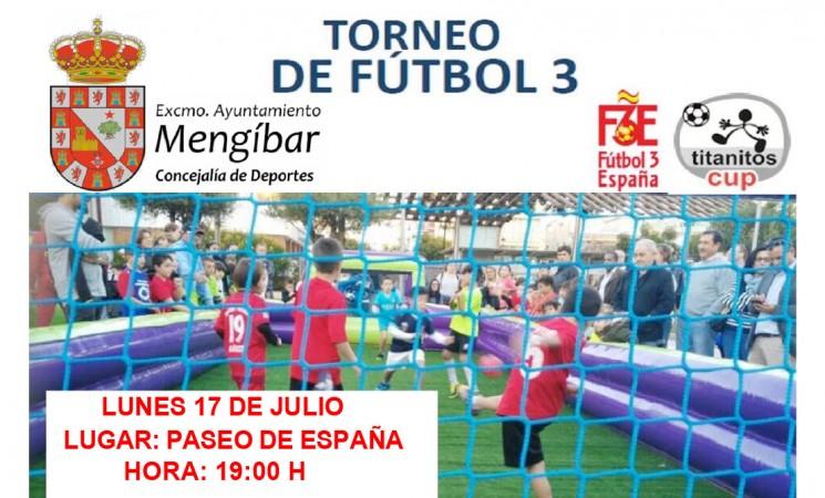 Primer Torneo de Fútbol 3 de Mengíbar, el próximo lunes 17 de julio