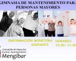 Cartel de las Escuelas Deportivas Municipales de Gimnasia de mantenimiento de Mengíbar