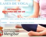 Cartel de Escuelas Deportivas Municipales de Yoga de Mengíbar