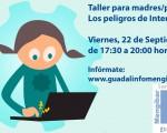 Taller para madres y padres sobre los peligros de internet en el Guadalinfo de Mengíbar
