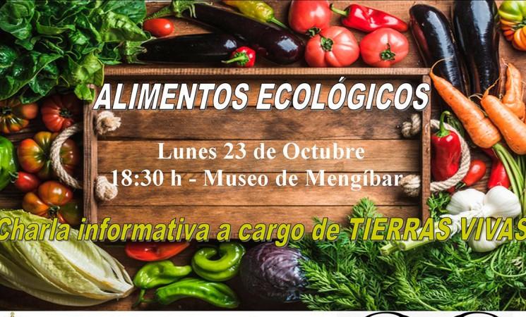Charla sobre alimentos ecológicos en Mengíbar, el próximo lunes