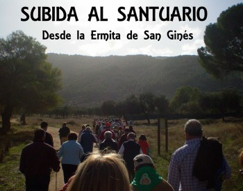 Subida de Abriendo Camino al Santuario de la Virgen de la Cabeza