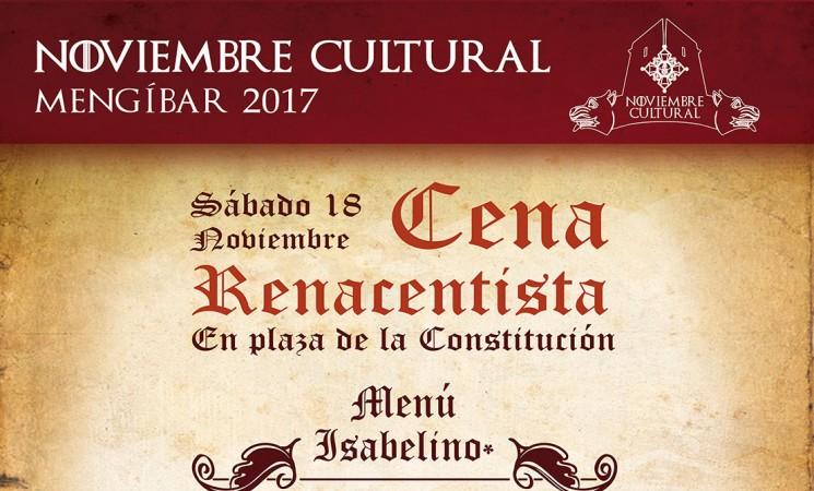 Cena renacentista y barra medieval en la Plaza de la Constitución de Mengíbar, este sábado