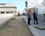 Las obras de arreglo del muro de centro de salud de Mengíbar entran en su recta final