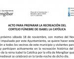 Acto para preparar la recreación del cortejo fúnebre de Isabel la Católica por las calles de Mengíbar