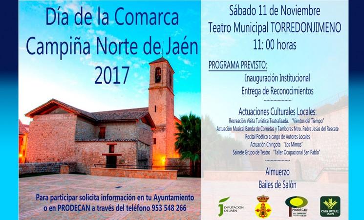 El Día de la Comarca de la Campiña Norte, el sábado 11 de noviembre en Torredonjimeno