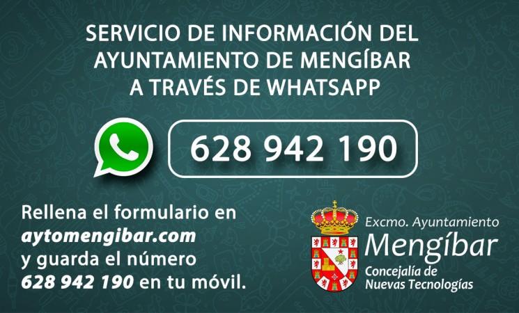 Nuevo servicio de información del Ayuntamiento de Mengíbar a través de Whatsapp