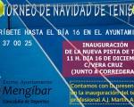 Torneo de Navidad para inaugurar la nueva pista de tenis de Mengíbar