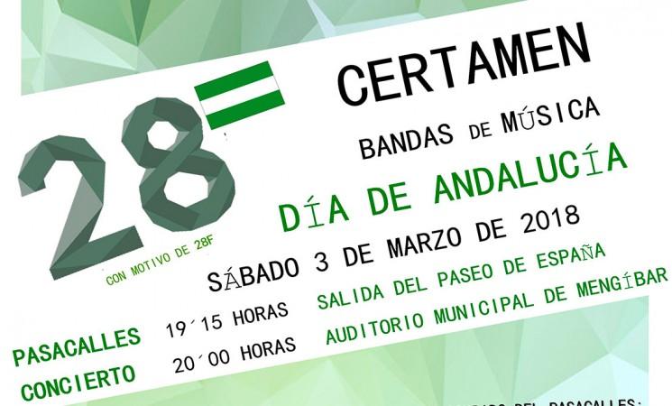 Certamen de bandas de música con motivo del Día de Andalucía en Mengíbar