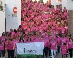 Reconocimiento andaluz a la marcha 'Mengíbar se une al rosa'