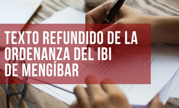 Texto refundido de la Ordenanza del IBI del Ayuntamiento de Mengíbar