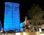 La Torre de Mengíbar se tiñe de azul por el Día Mundial de Concienciación sobre el Autismo