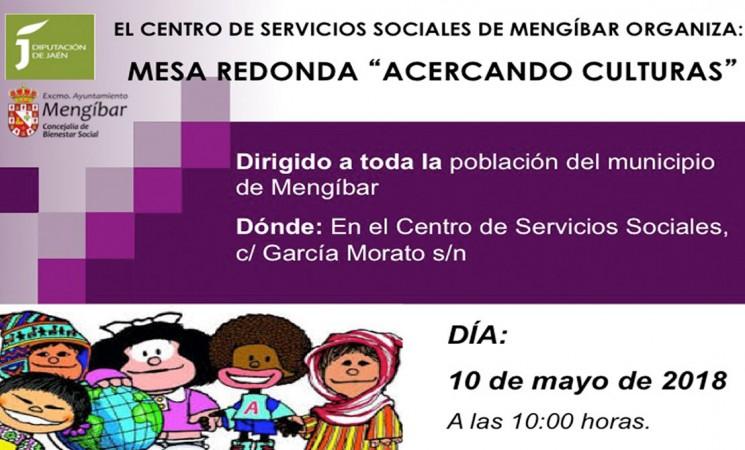 Mesa redonda 'Acercando culturas', en el Centro de Servicios Sociales de Mengíbar, el 10 de mayo