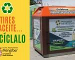 Instalación de contenedores de recogida de aceite vegetal usado en Mengíbar
