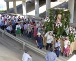 Romería de Mengíbar 2018 – Corte de la carretera en el recinto romero