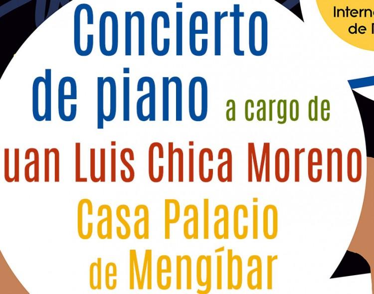 Concierto de piano a cargo de Juan Luis Chica Moreno en la Casa Palacio de Mengíbar, el 21 de junio