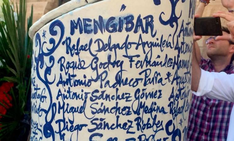 Un monumento recuerda en el Palacio Provincial de Jaén a los mengibareños que murieron en el Holocausto nazi