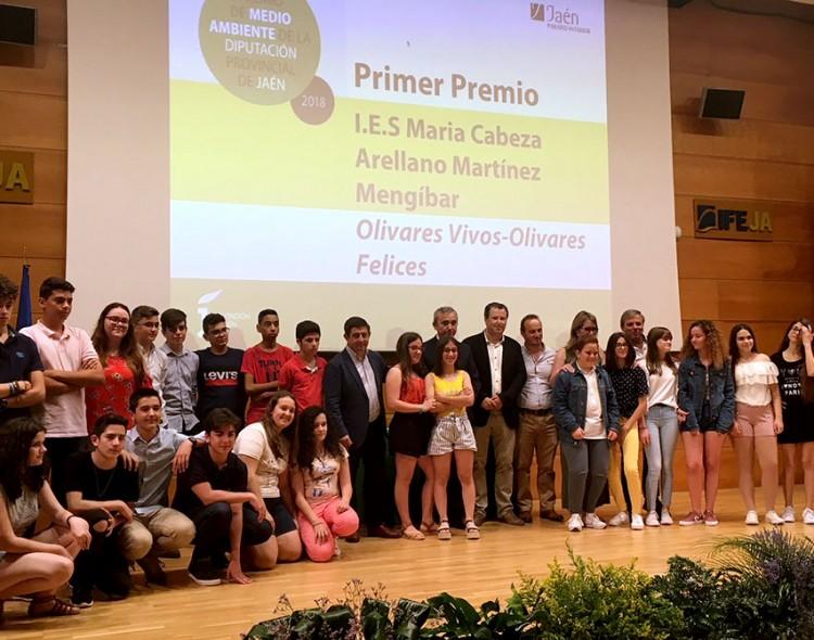Estudiantes del Instituto de Mengíbar ganan el Premio de Medio Ambiente de la Diputación
