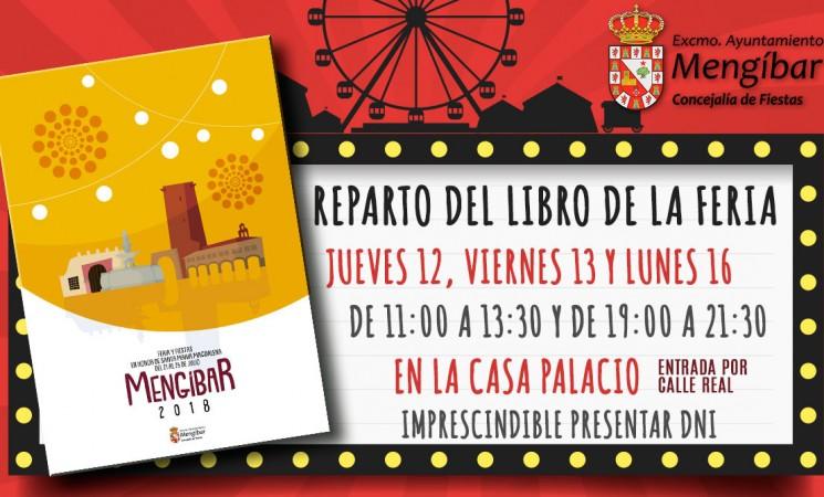 Reparto del Libro de la Feria Mengíbar 2018, a partir del jueves 12 de julio