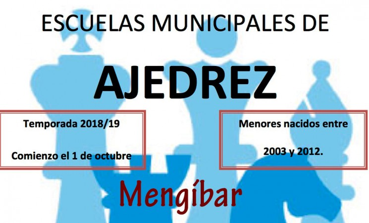 Nueva temporada de las Escuelas Municipales de Ajedrez de Mengíbar