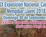 Mengíbar acogerá la Exposición Nacional Canina el próximo 30 de septiembre de 2018