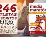 246 atletas correrán la I Media Maratón de Mengíbar 'Geolit-Arco de Jano'