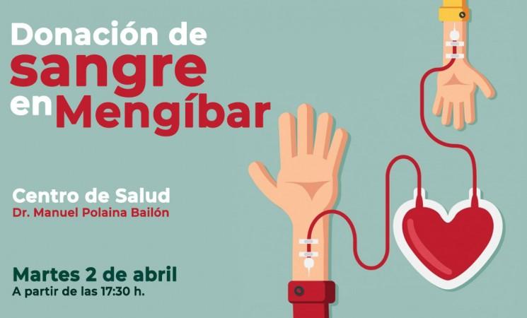 Donación de sangre en el Centro de Salud de Mengíbar este martes 2 de abril de 2019