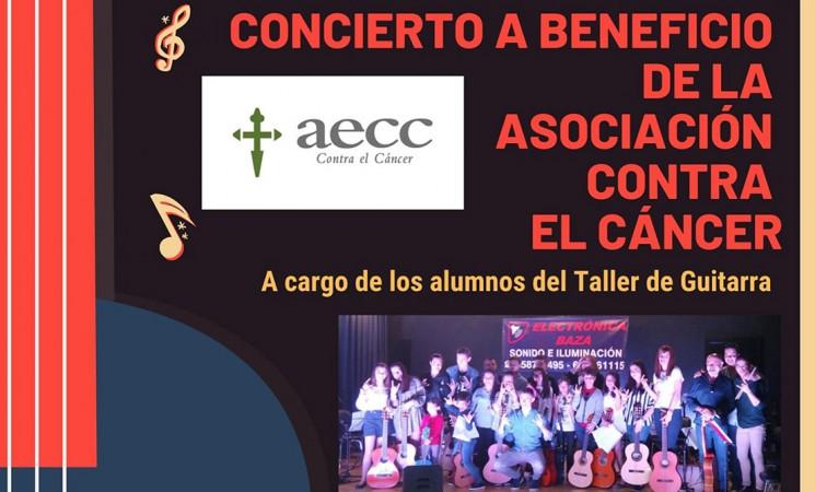 Concierto en Mengíbar a beneficio de la AECC a cargo del alumnado del Taller de Guitarra el viernes 17 de mayo de 2019