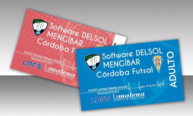 Información sobre la venta de entradas de la final del play-off de ascenso a Primera División del Software Delsol Mengíbar FS