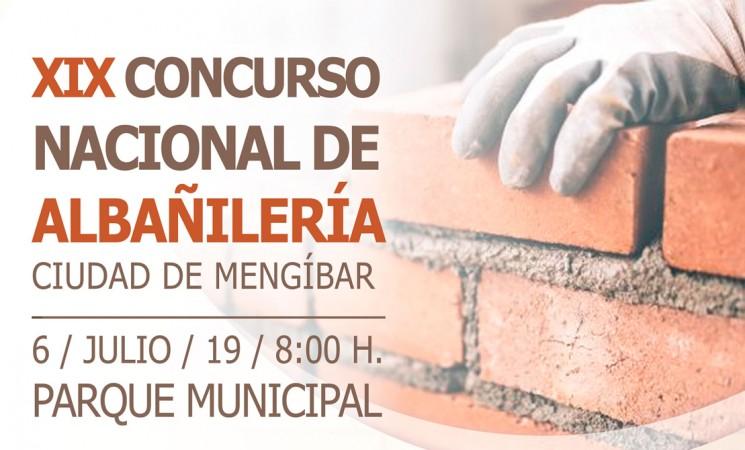 El XIX Concurso Nacional de Albañilería de Mengíbar será el próximo 6 de julio de 2019