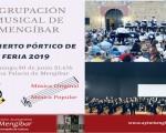 Concierto del Pórtico de Feria de la Agrupación Musical de Mengíbar, el domingo 30 de junio de 2019 en la Casa Palacio