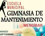 El Ayuntamiento de Mengíbar abre la inscripción para la Escuela Municipal de Gimnasia de mantenimiento 2019/2020