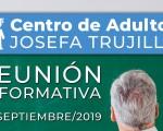 Reunión informativa del Centro de Adultos Josefa Trujillo, de Mengíbar, sobre la oferta formativa del nuevo curso 2019/2020