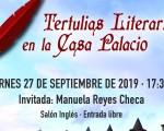 Las Tertulias literarias en la Casa Palacio de Mengíbar comienzan con Manuela Reyes como primera invitada