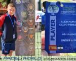 El joven Alejandro Calvo Pérez, de Mengíbar, se mete en los cuartos de final del Mundial de Pádel Junior 2019