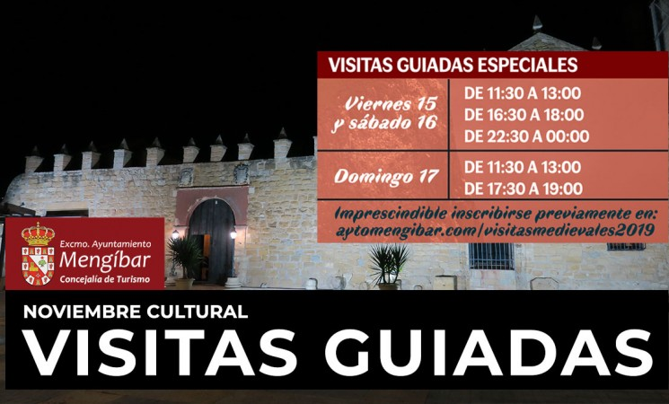 Formulario de inscripción para las visitas guiadas a Mengíbar durante el Fin de Semana Medieval del Noviembre Cultural 2019
