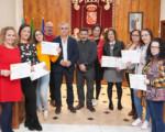 El Ayuntamiento de Mengíbar entrega los diplomas al alumnado del curso de atención sociosanitaria a personas dependientes