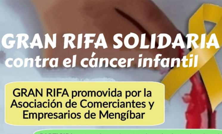 Comerciantes de Mengíbar impulsan una rifa solidaria para recaudar fondos contra el cáncer infantil
