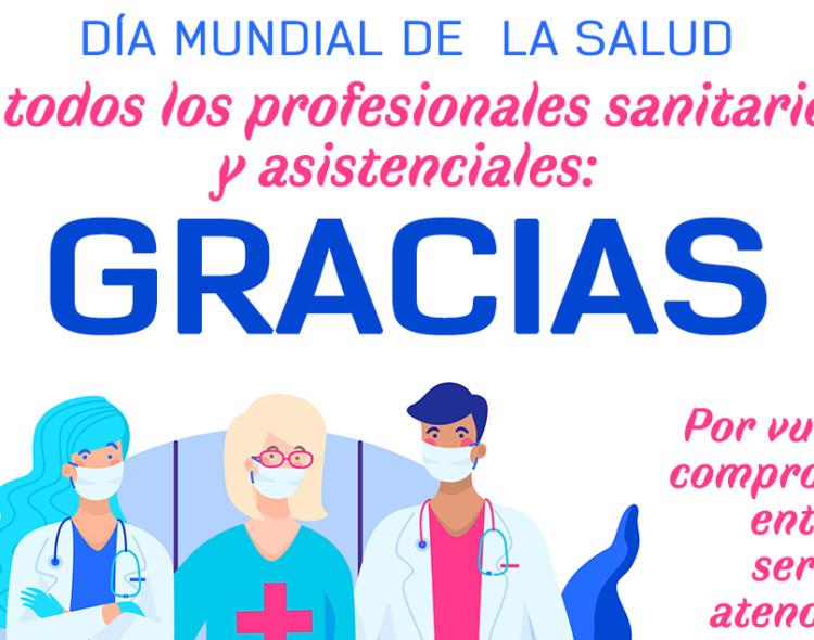 Coronavirus: Agradecimiento del Ayuntamiento de Mengíbar a los profesionales sanitarios y asistenciales por el Día Mundial de la Salud