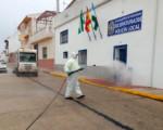 Coronavirus: Limpieza y desinfección de zonas de especial riesgo por tercer fin de semana en Mengíbar