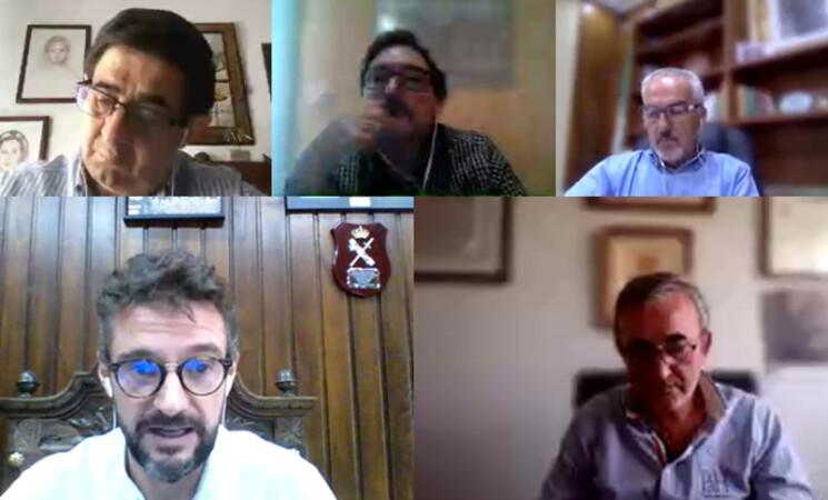 Coronavirus: El alcalde de Mengíbar se reúne con el presidente de la Diputación de Jaén y otros alcaldes para abordar la gestión de la crisis sanitaria