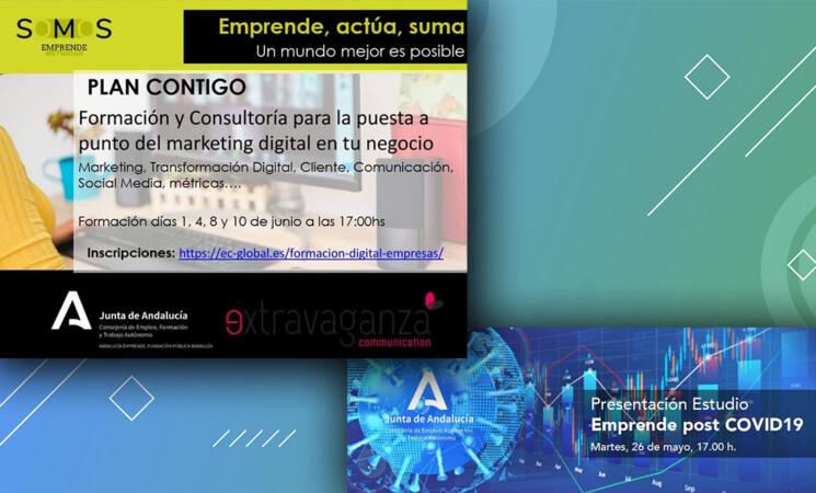 Formación y consultoría sobre marketing digital para empresarios y emprendedores y presentación del estudio 'Emprende post COVID-19'