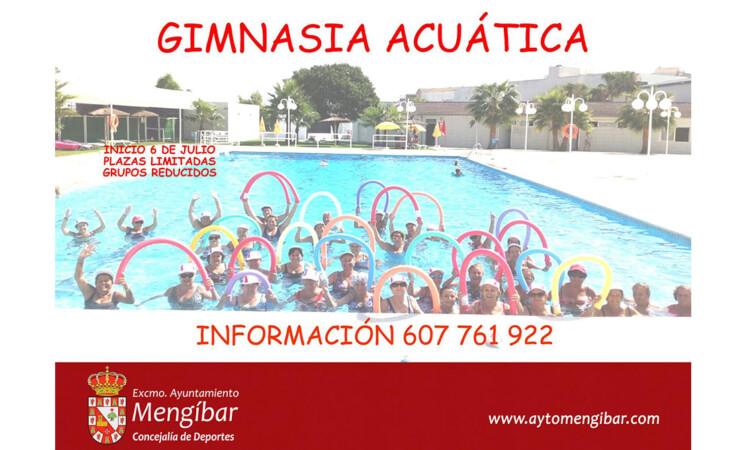Clases de gimnasia acuática en la Piscina Municipal de Mengíbar, a partir del 6 de julio de 2020